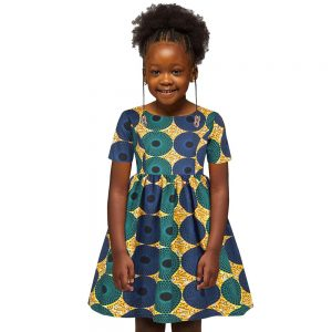 Ankara African Dresses Baby Clothes Kenya South Africa Night Dress For Kids Vestidos De Fiesta Robe Africaine De Soiree Dashiki