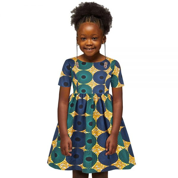 Ankara African Dresses Baby Clothes Kenya South Africa Night Dress For Kids Vestidos De Fiesta Robe Africaine De Soiree Dashiki