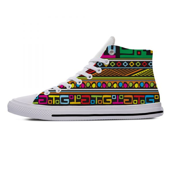 AFRICAN DASHIKI ADINKRA KENTE Hot Fashion Popular Funny Canvas Shoes High Top Lightweight Breathable 3D Print Men women Sneakers 2