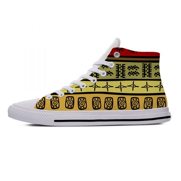 AFRICAN DASHIKI ADINKRA KENTE Hot Fashion Popular Funny Canvas Shoes High Top Lightweight Breathable 3D Print Men women Sneakers 3