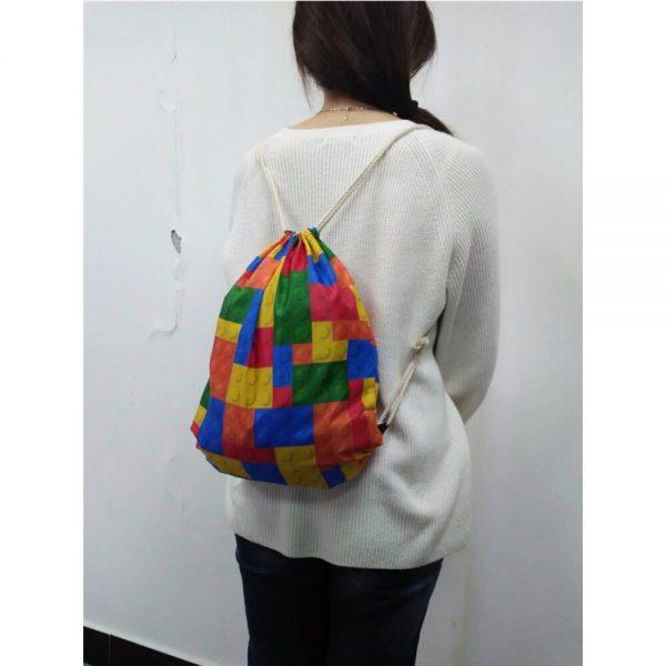 New Drawstring Bag Women Backpack African Printing Small Drawstring Bag for Boys Men's Mochila Shoes Package Bag Drop Shipping 5