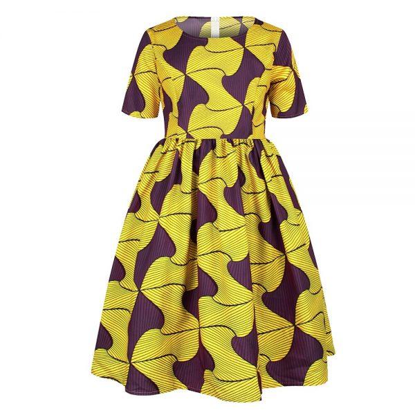 Ankara African Dresses Baby Clothes Kenya South Africa Night Dress For Kids Vestidos De Fiesta Robe Africaine De Soiree Dashiki 2