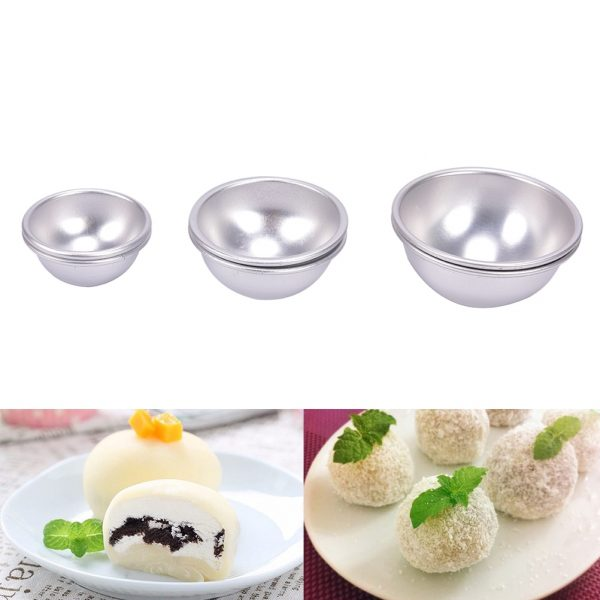2Pcs Bath Bombs Metal Aluminum Alloy Bath Bomb Mold 3D Ball Sphere Shape DIY Bathing Tool Accessories Creative Mold 1