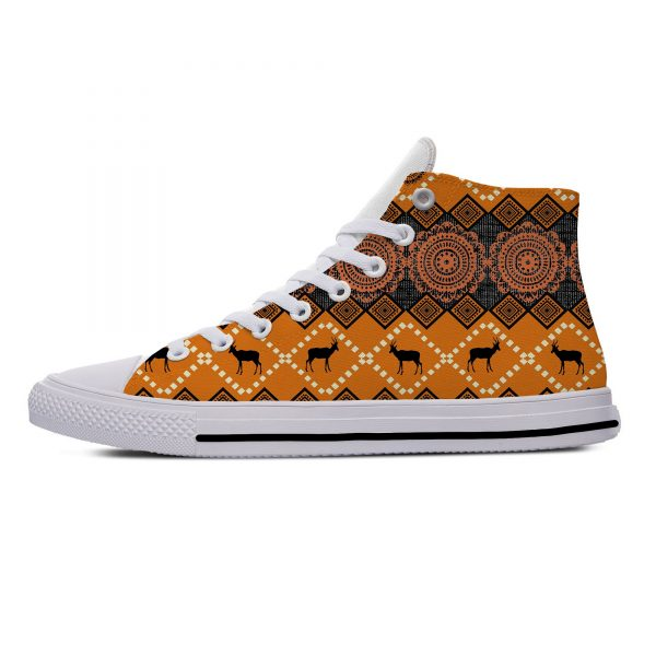 AFRICAN DASHIKI ADINKRA KENTE Hot Fashion Popular Funny Canvas Shoes High Top Lightweight Breathable 3D Print Men women Sneakers 4