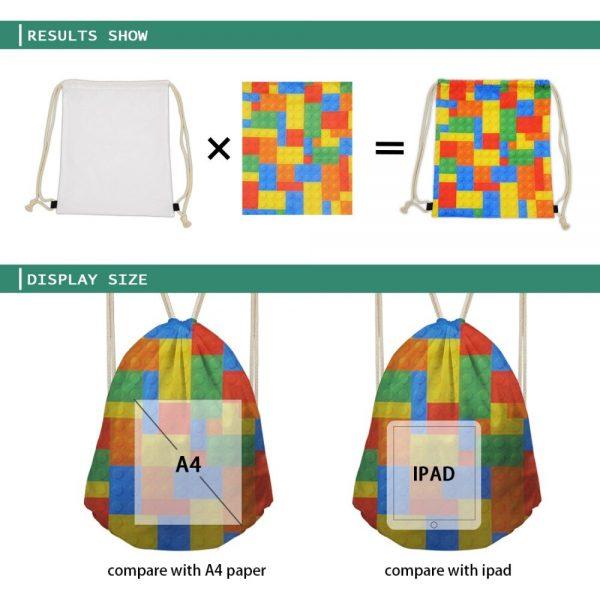 New Drawstring Bag Women Backpack African Printing Small Drawstring Bag for Boys Men's Mochila Shoes Package Bag Drop Shipping 3