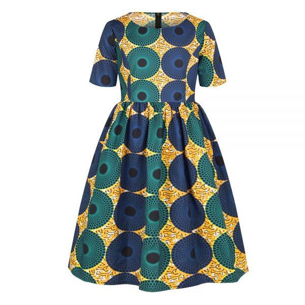 Ankara African Dresses Baby Clothes Kenya South Africa Night Dress For Kids Vestidos De Fiesta Robe Africaine De Soiree Dashiki 3