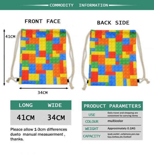 New Drawstring Bag Women Backpack African Printing Small Drawstring Bag for Boys Men's Mochila Shoes Package Bag Drop Shipping 4