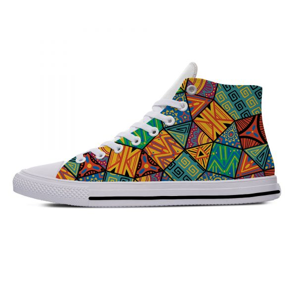 AFRICAN DASHIKI ADINKRA KENTE Hot Fashion Popular Funny Canvas Shoes High Top Lightweight Breathable 3D Print Men women Sneakers