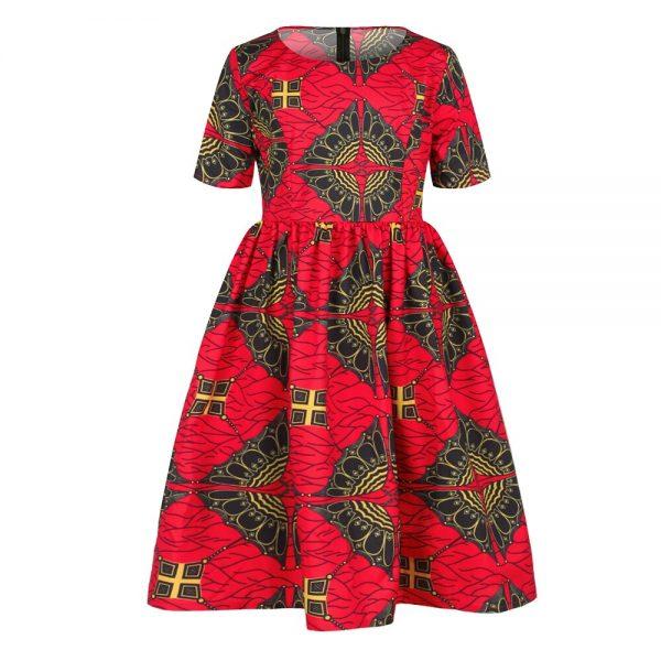 Ankara African Dresses Baby Clothes Kenya South Africa Night Dress For Kids Vestidos De Fiesta Robe Africaine De Soiree Dashiki 1
